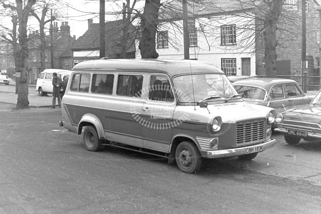 Unknown Operator Ford Transit CBH183K  in 1970s - JGS Smith