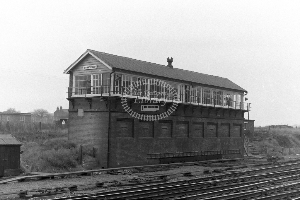 British Rail Signal Box  at Bowesfield   in 1970s - JGS Smith