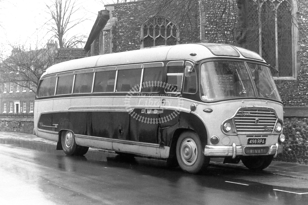 White, Camberley Bedford SB8 498RPA  in 1970s - JGS Smith