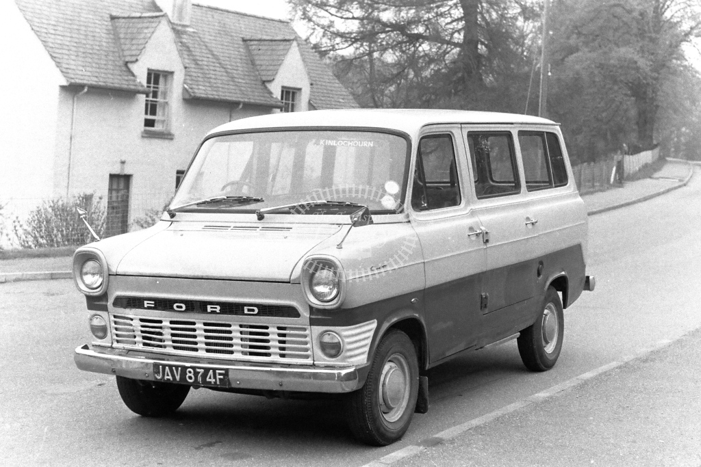 Unknown Operator Ford Transit JAV874F  in 1970s - JGS Smith