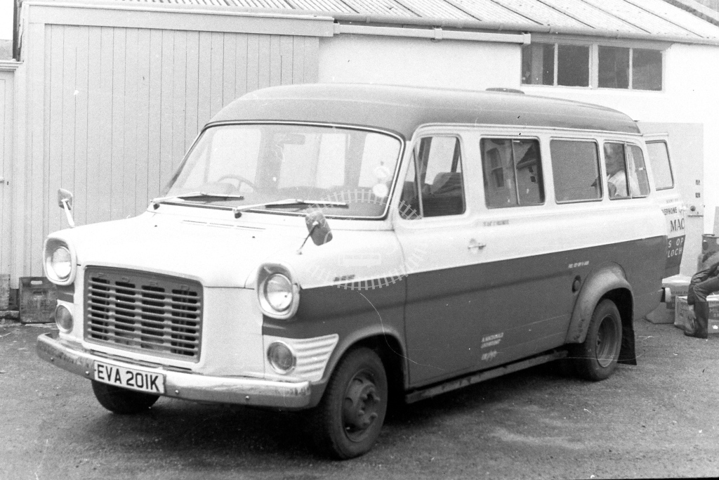 Unknown Operator Ford Transit EVA201K  in 1970s - JGS Smith