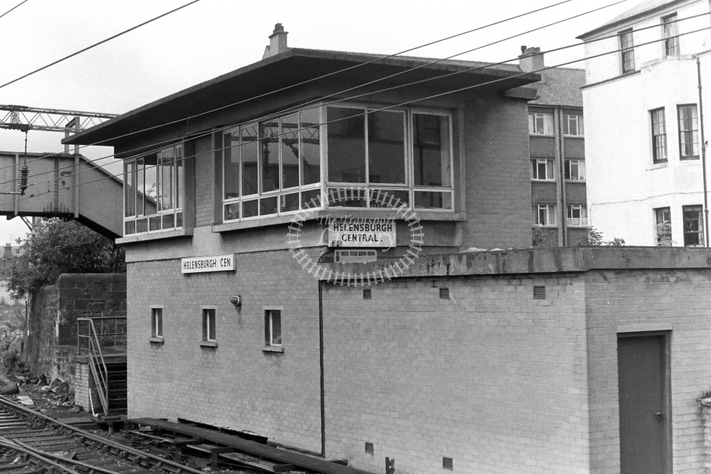British Rail Signal Box  at Helensburgh Central   in 1970s - JGS Smith