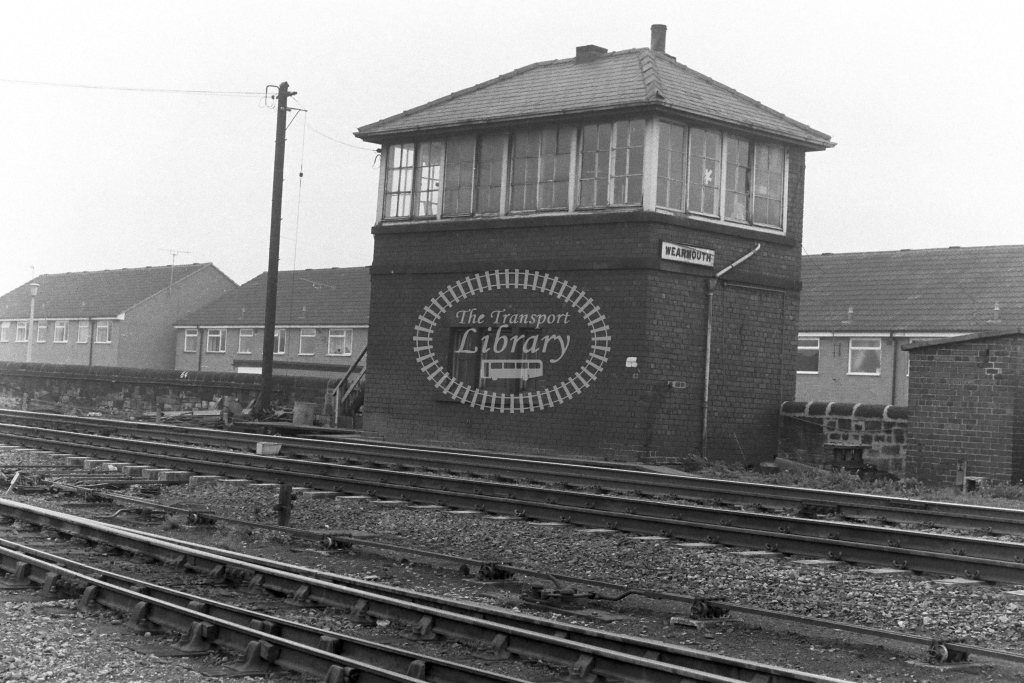 British Rail Signal Box  at Wearmouth  in 1970s - JGS Smith