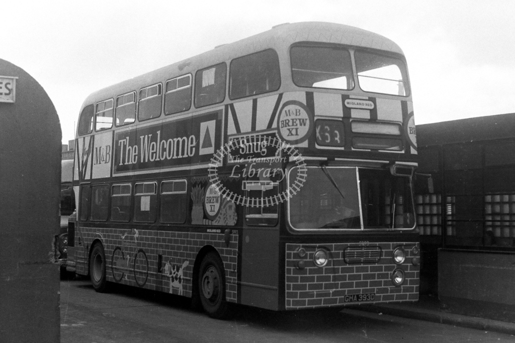 Midland Red Daimler CRG6LX GHA393D  in 1970s - JGS Smith
