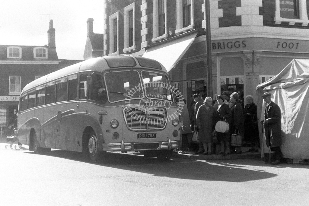 Viney. N15 Bedford SBG ROU798  in 1970s - JGS Smith