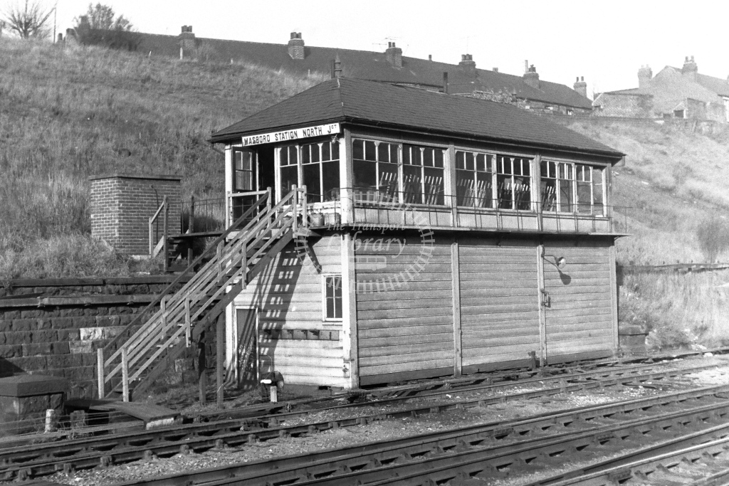 British Rail Signal Box  at Masboro Station North Junction  in 1970s - JGS Smith