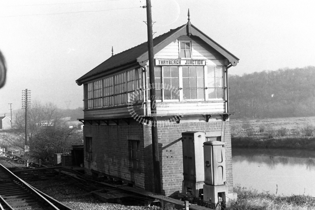 British Rail Signal Box  at Thrybergh Junction  in 1970s - JGS Smith