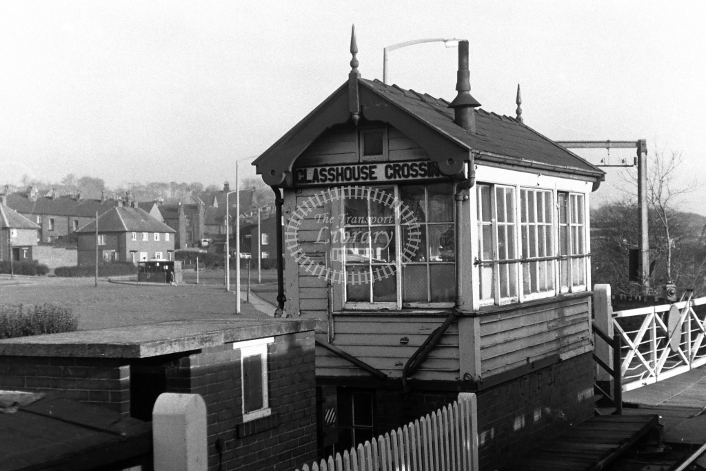 British Rail Signal Box  at Glasshouse Crossing  in 1970s - JGS Smith