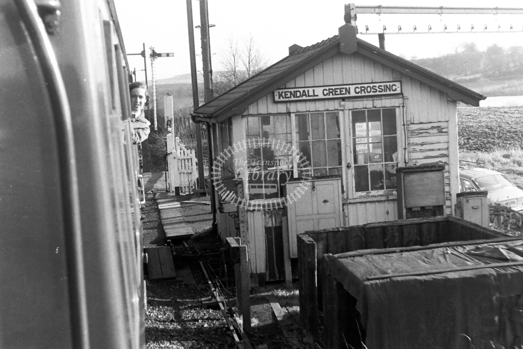 British Rail Signal Box  at Kendall Green Crossing  in 1970s - JGS Smith