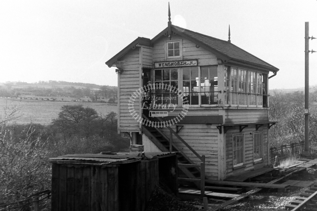 British Rail Signal Box  at Wentworth Junction  in 1970s - JGS Smith