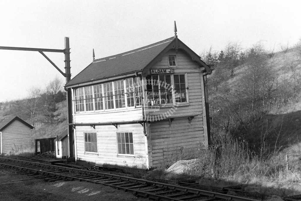 British Rail Signal Box  at Aldam Junction  in 1970s - JGS Smith