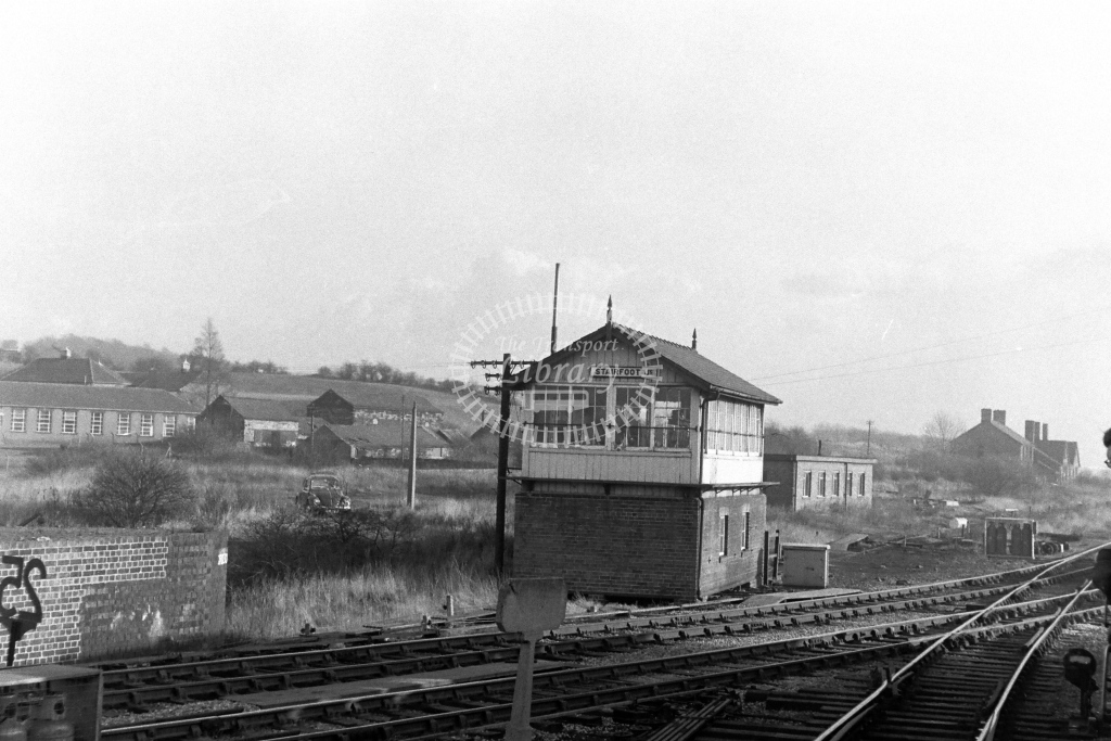 British Rail Signal Box  at Stairfoot Junction  in 1970s - JGS Smith