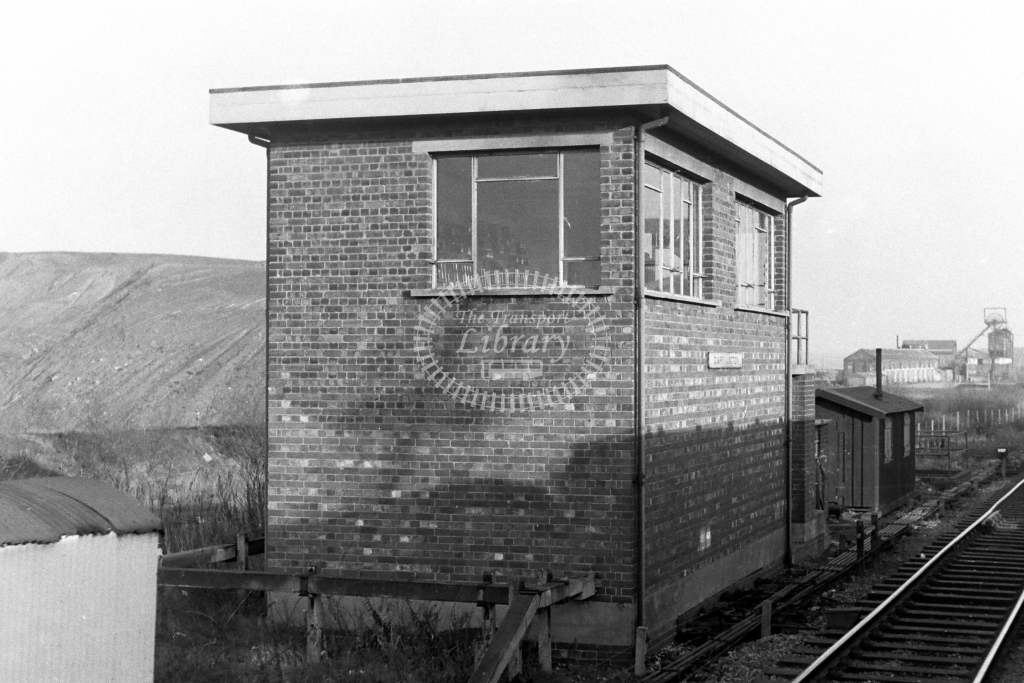 British Rail Signal Box  at Quarry Junction  in 1970s - JGS Smith