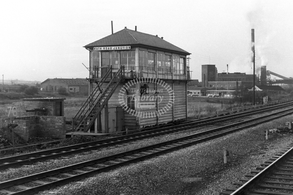 British Rail Signal Box  at Wath Road Junction  in 1970s - JGS Smith