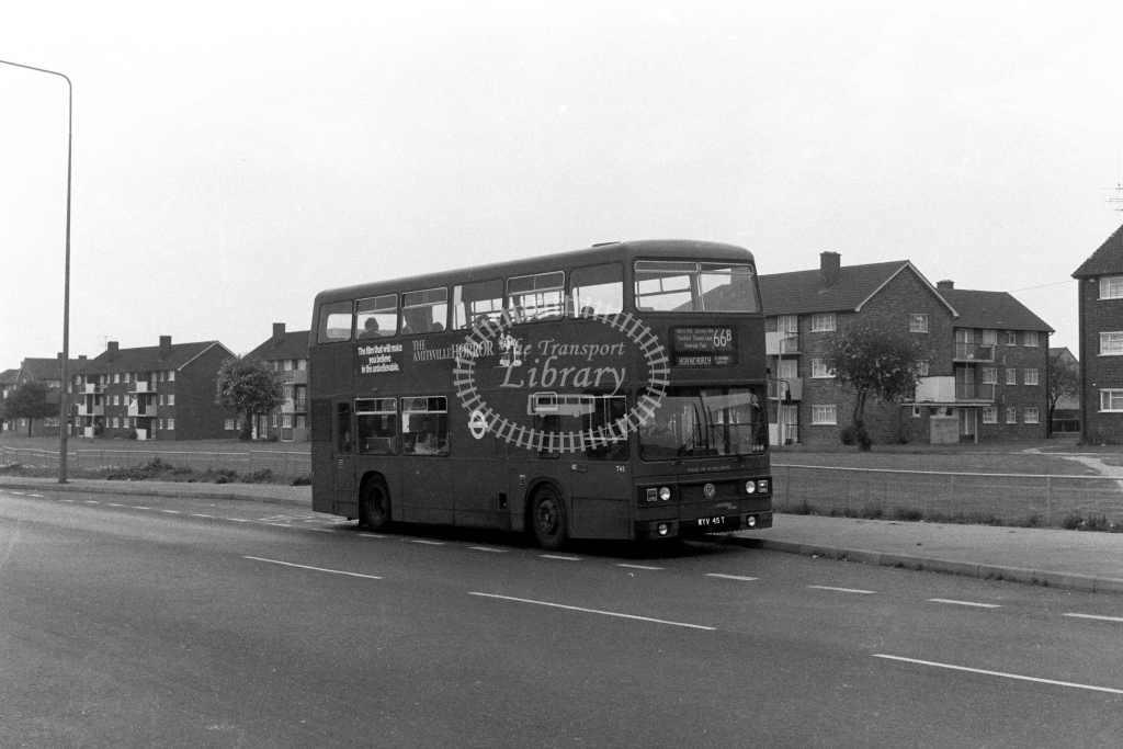 London Transport Leyland Titan T45  on route 66B WYV45T  in 1970s - JGS Smith