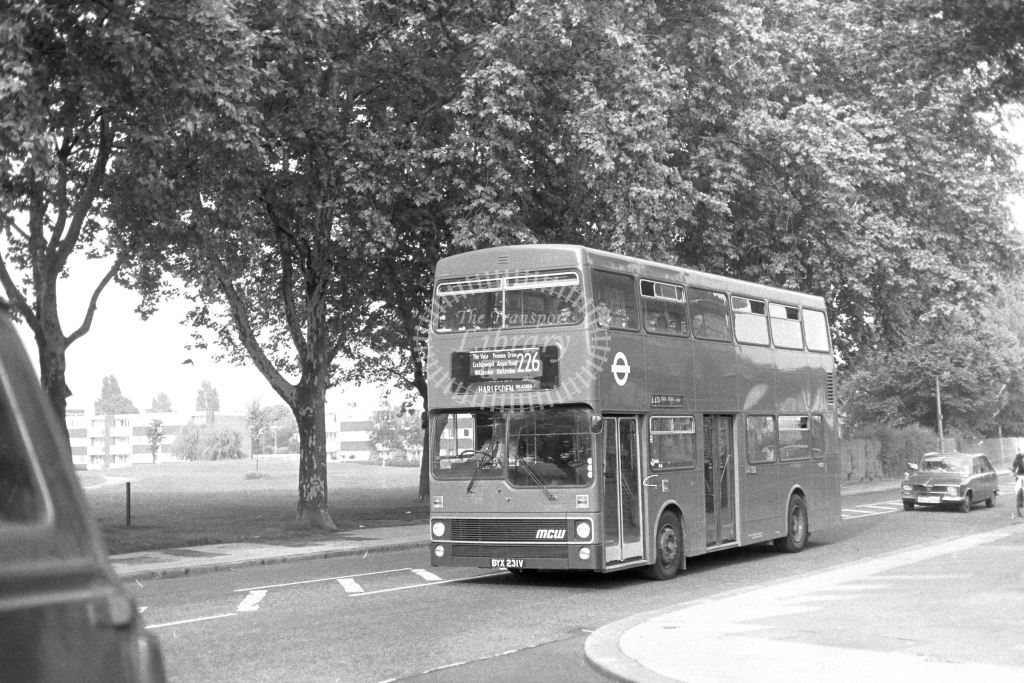 London Transport MCW Metrobus M231  on route 226 BYX231V  in 1970s - JGS Smith