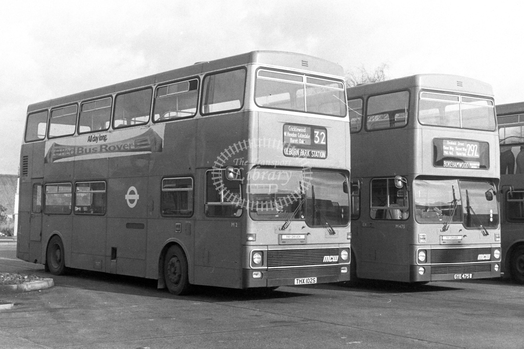London Transport MCW Metrobus M2  on route 32 THX102S  at Edgware Station  in 1980s - JGS Smith