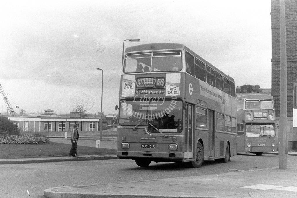 London Transport ScaniaBR111 MD151  on route 177 OUC151R  in 1980s - JGS Smith