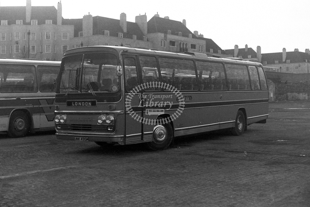 Morleys Bedford YRT UNK495M  in 1980s - JGS Smith