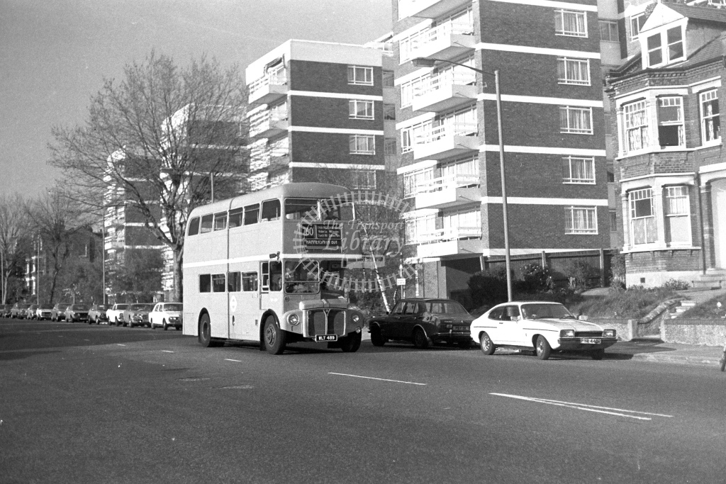 London Transport AEC Routemaster RM489  on route 260 WLT489  at Finchley  in 1980s - JGS Smith