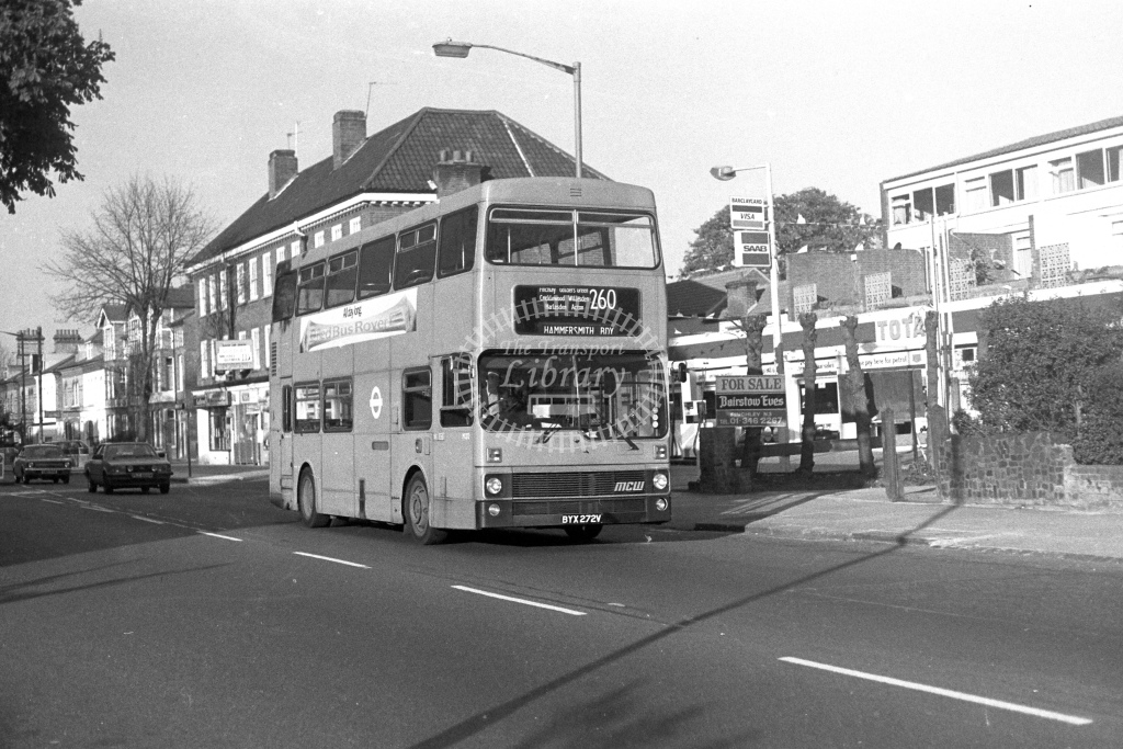 London Transport MCW Metrobus M272  on route 260 BYX272V  in 1980s - JGS Smith
