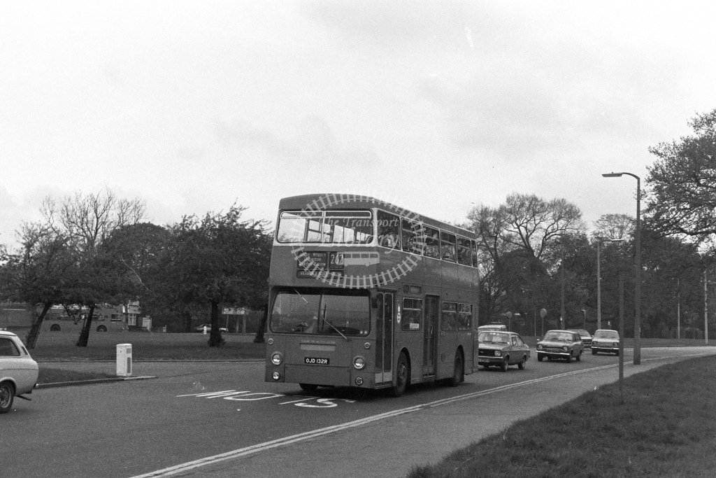 London Transport Leyland Fleetline DMS2132  on route 262 OJD132R  at Whipps Cross  in 1980s - JGS Smith