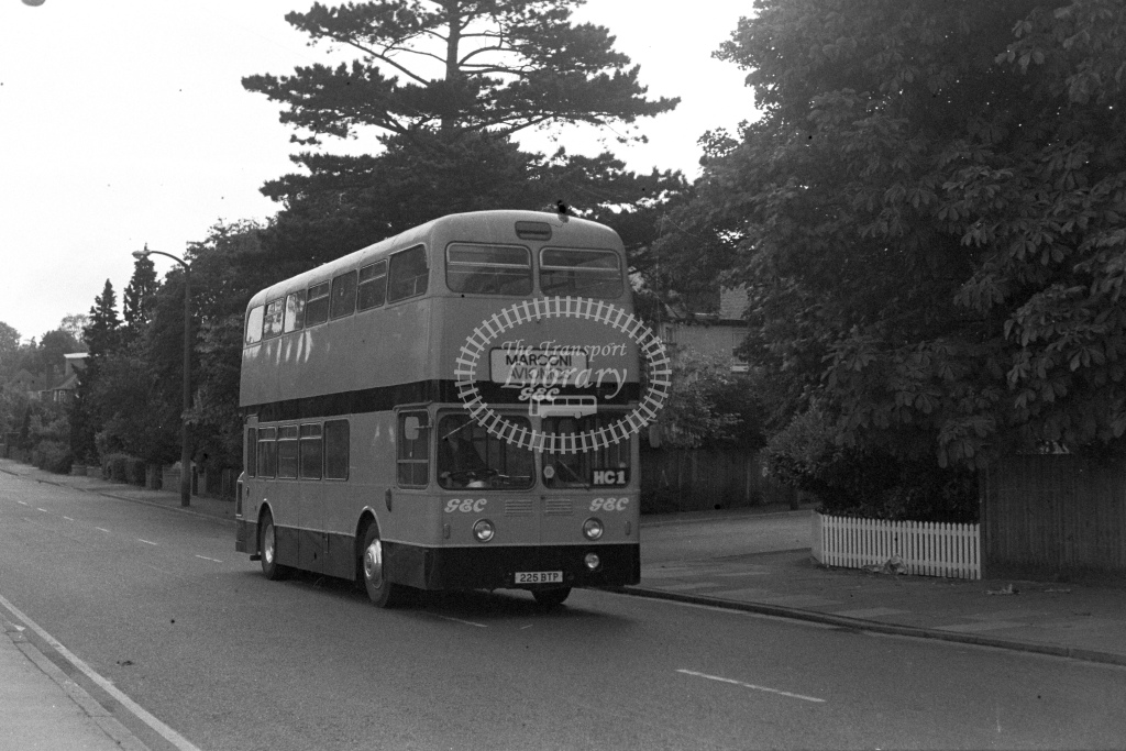 Marconi Avionics Leyland Atlantean 225BTP  in 1980s - JGS Smith