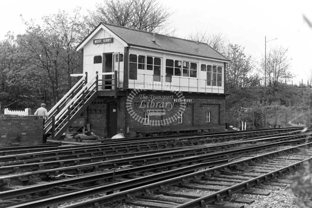 British Rail Signal Box  at West Kirby  in 1980s - JGS Smith