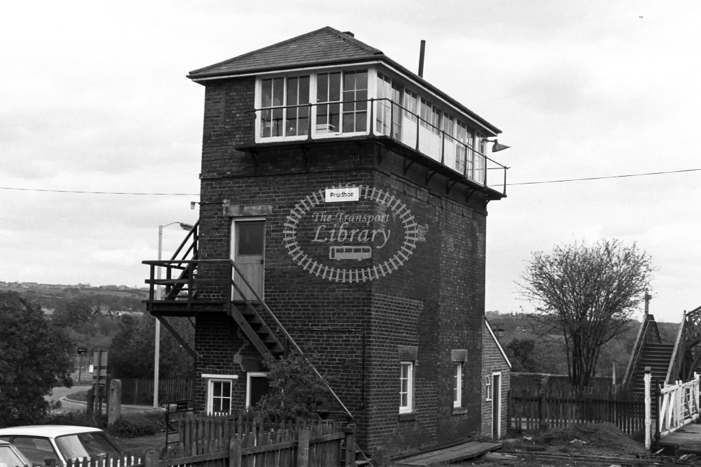 British Rail Signal Box  at Prudhoe  in 1980s - JGS Smith