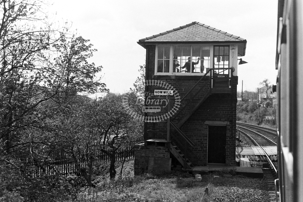 British Rail Signal Box  at How Mill  in 1980s - JGS Smith