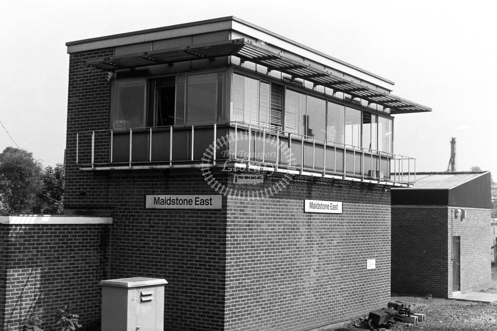 British Rail Signal Box  at Maidstone East  in 1980s - JGS Smith