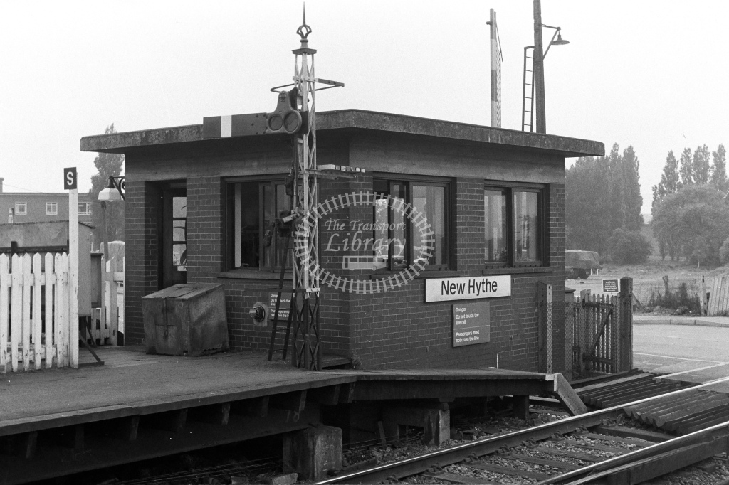 British Rail Signal Box  at New Hythe  in 1980s - JGS Smith