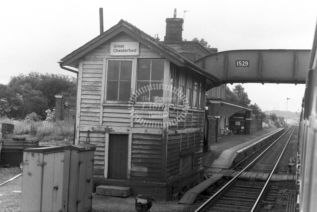 British Rail Signal Box  at Great Chesterford  in 1980s - JGS Smith