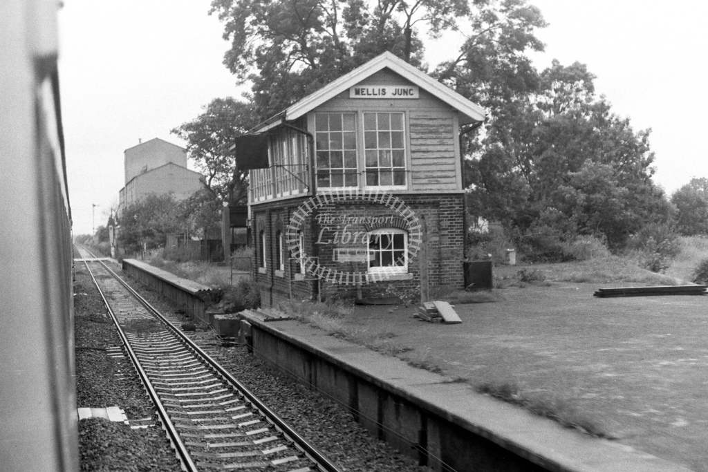 British Rail Signal Box  at Wellis Junction  in 1980s - JGS Smith