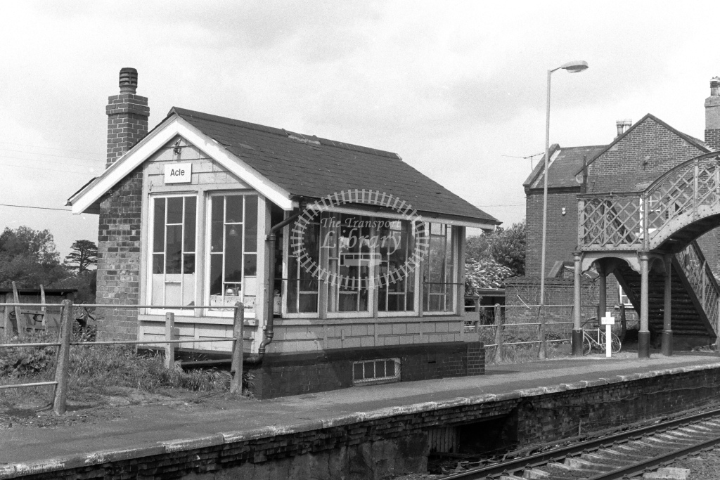 British Rail Signal Box  at Acle  in 1980s - JGS Smith