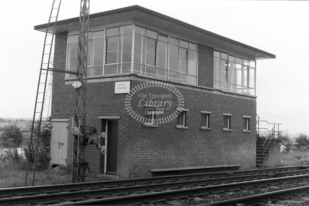 British Rail Signal Box  at Cowens Crossing  in 1980s - JGS Smith