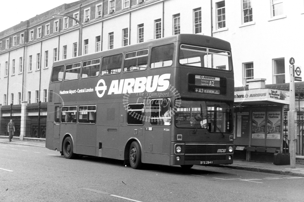 London Transport MCW Metrobus M264  on route A2 BYX264V  at Paddington  in 1980s - JGS Smith