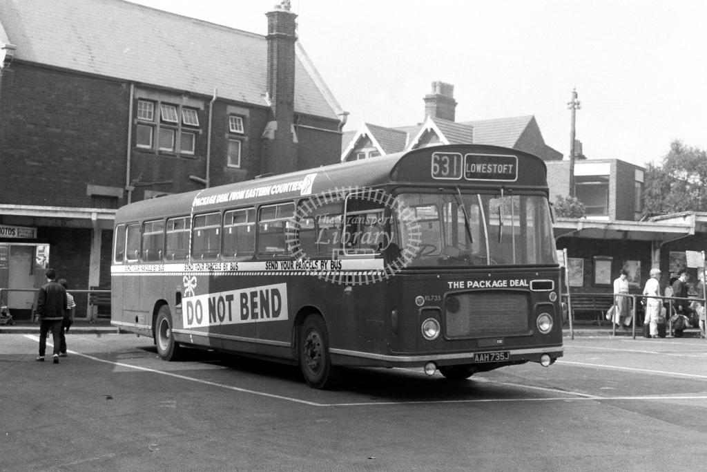 Eastern Counties Bristol RELL6G AAH735J  in 1980s - JGS Smith