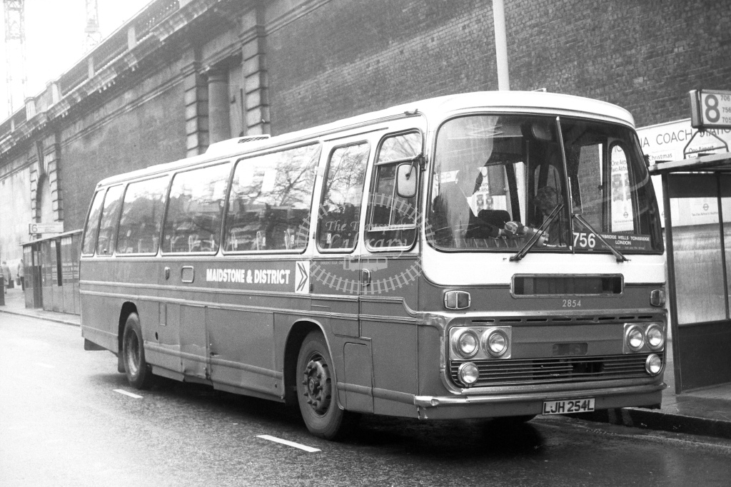 Maidstone and District Leyland Leopard LJH254L  at Victoria  in 1980s - JGS Smith