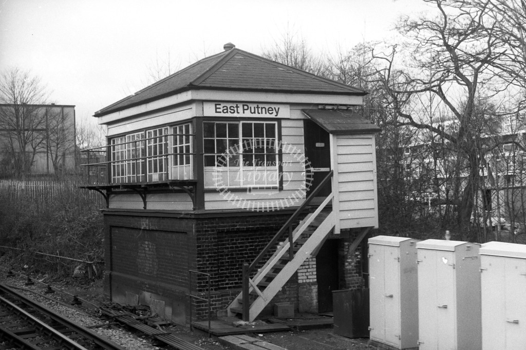 British Rail Signal Box  at East Putney  in 1980s - JGS Smith