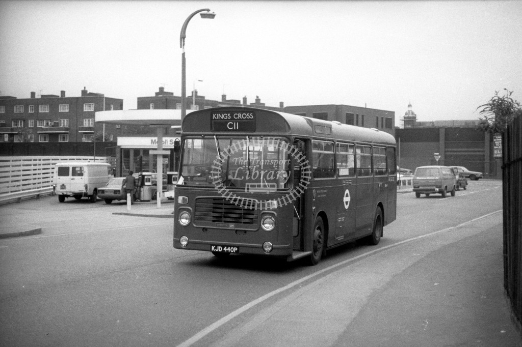 London Transport Bristol LH BL40 KJD440P  on route C11  at Kings Cross  in 1980s - JGS Smith