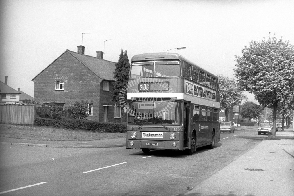 London Country Leyland Atlantean AN171 XPG171T  on route 306  in 1980s - JGS Smith