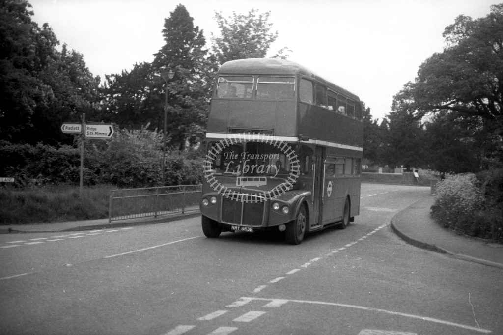 London Transport AEC Routemaster RMA63 NMY663E  in 1980s - JGS Smith