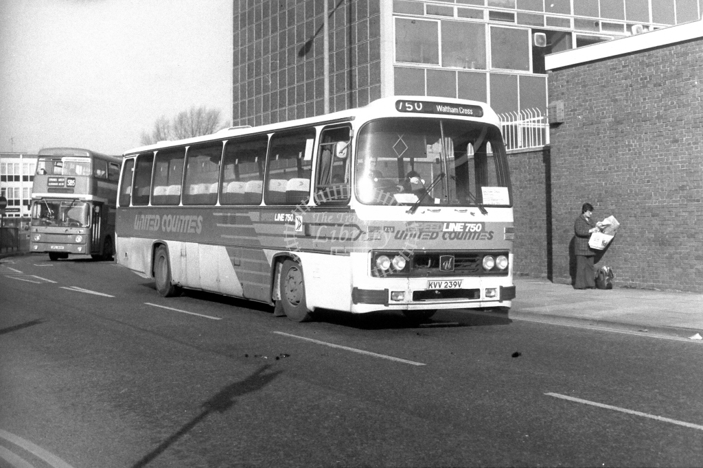 United Counties Leyland Leopard KVV239V  in 1980s - JGS Smith