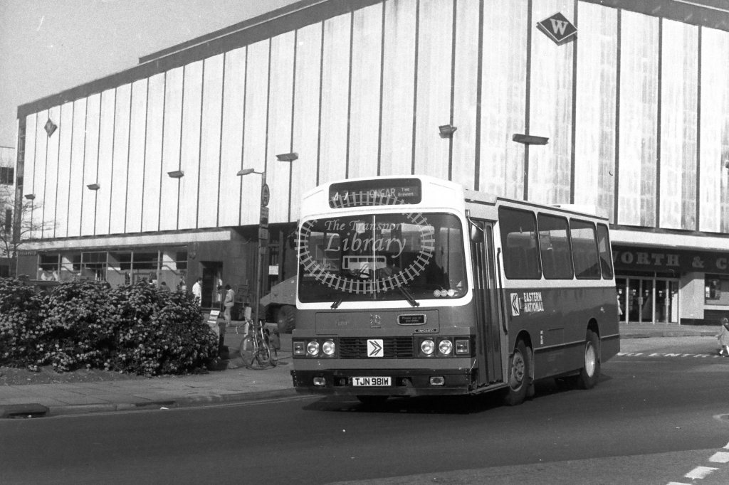 Eastern National Bedford YMQ TJN981W  at Harlow  in 1980s - JGS Smith