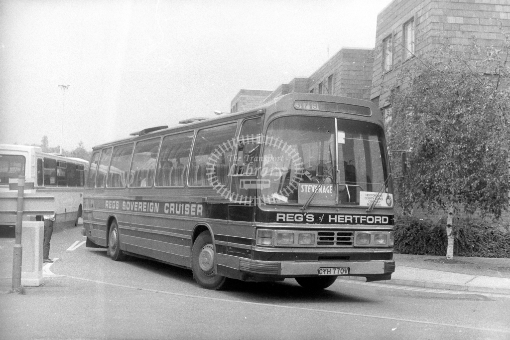 Reg's of Hertford Leyland Leopard CYH770V  on route 379  in 1990s - JGS Smith