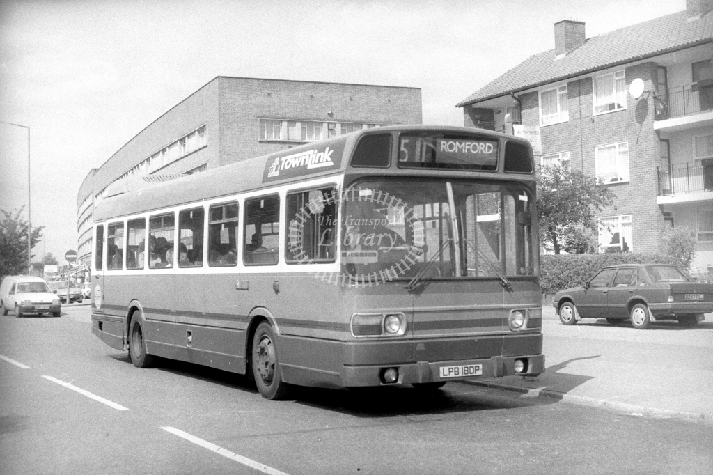 Townlink Leyland National SNC SNC180 LPB180P  on route 511  in 1990s - JGS Smith