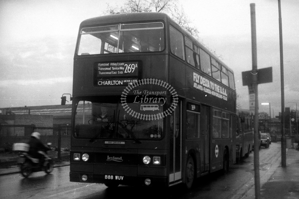 London Transport Leyland Titan T T1088 B88WUV  on route 269A  in 1980s - JGS Smith