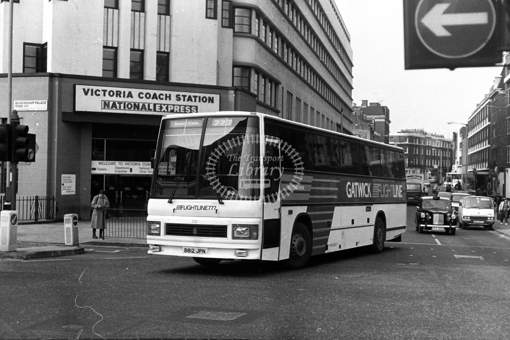 Southdown Leyland Tiger B812JPN  at Victoria  in 1980s - JGS Smith