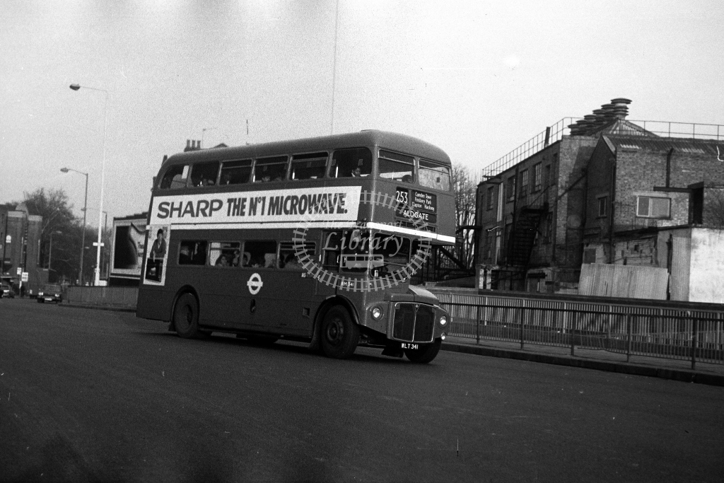 London Transport AEC Routemaster RM RM341 WLT341  on route 243  in 1980s - JGS Smith